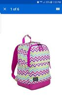 New Girl Student Backpack Computer Laptop Pocket Emma Pink Discontinued Limited