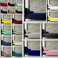 Diamond Range Plain Cotton Rich Super Soft Fitted Sheets / Bunk Bed /Pillowcases