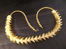 Vintage Genuine Natural Pearl -Molded Art Glass -Gold Bead Necklace 1/20 14K GF