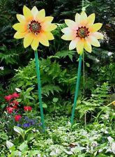 2 SONNENBLUMEN DEKO Holzsonnenblumen Sonnenblume Holz Sonnenblumendeko Dekoblume