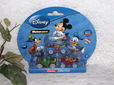 GOOFY MICKEY DONALD DIECAST CAR DISNEY MOTORAMA SET/ 3 MIB