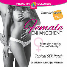 Female Enhancement - Woman's Drive Sexual Vitality - Good Sex - 30 Patches