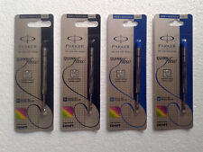 4 x Parker Jotter Ball Point Refills * 2 Blue & 2 Black (M) Medium
