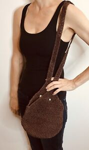Helen Kaminski Brown Raffia Cross Body Bag NWT Australian Designer