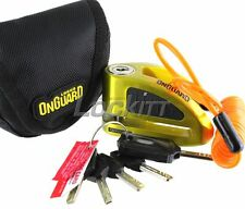 Onguard Boxer 5052Y Motorcycle Brake Disc Lock Yellow-Gold - pouch and reminder