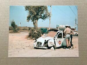Citroen 2CV Press Photograph - Paris-Kabul Rally 1970
