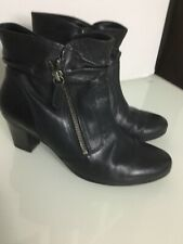 GABOR Black Leather Ankle Boots. Size 5UK. Exc Condition