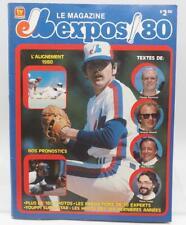 Vintage Montreal Expos Magazine French Language 1980