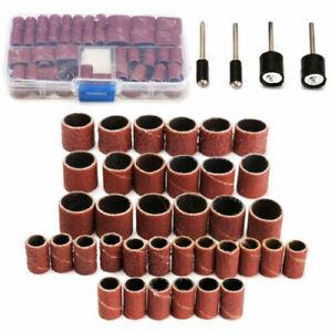104Pcs Sanding Bands Drum Sleeve Dremel Rotary Tool Kit Box Set 60 120 320Grit