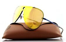 NEW Authentic RAY-BAN BLAZE SHOOTER Blue Dark Orange Sunglasses RB 3581N 90387J