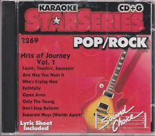 Karaoke Star Series Pop/Rock Hits of Journey Vol. 1 2000 Cd+G + Lyric Sheet Rare