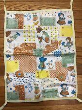 "Vintage Baby Changing Table Mat Pad Vinyl with Ties Garden Outdoor 22"" x 17"""