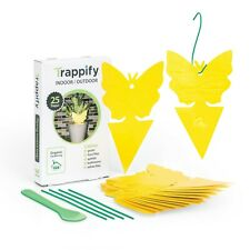Trappify Sticky Fruit Fly and Gnat Trap Yellow Sticky Bug Traps