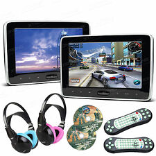 XTRONS 2X 10.1 Zoll Auto Kopfstütze monitor LCD DVD Player HDMI USB SD+Kopfhörer