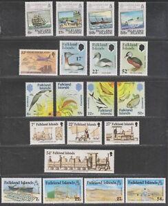 Falkland Islands 1984-86 Selection Mint Grebes, Nature Conservation, Penguins