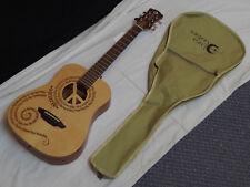 Luna Safari Peace acoustic guitar NEW - 3/4 Travel Size w/ Gig Bag