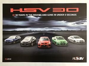 HSV Holden Special Vehicles 30 years promotional photo poster dealer stock NOS