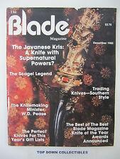 the Blade Magazine   December 1985   The Javanese Kris: Supernatural Powers