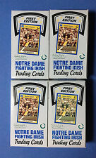 """(4) 1990 COLLEGIATE COLLECTION NOTRE DAME FIGHTING IRISH """"ALL-TIME GREATS"""" BOXES"""