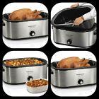 28 Lb Turkey Roaster Oven 22 Quart Steel Kitchen Electric Cooker photo