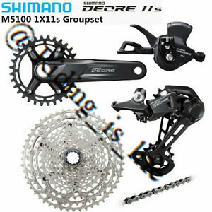 SHIMANO Deore M5100 1X11 11Speed MTB Groupset M6000/M6100 Brake 51T/170MM/175MM