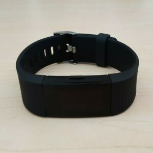 Fitbit Charge 2 Black Heart Rate Fitness Activity Tracker Black Wristband Large