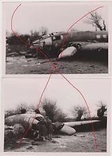 original Foto 2 x HE 111  nach Notlandung