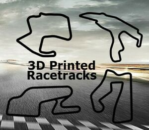 3D Printed Racetrack Layout - Race Track Wall Art (Black)