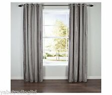 Latte Chenille Stripe Lined Eyelet Curtains 90 X 72 Lounge Bedroom Dining Decor