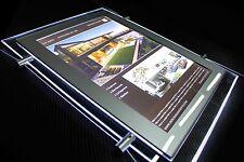Hanging Window Displays A4 Portrait 2 Side Crystal LED Light Panel Estate Agent