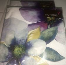 40 PC (2 pack) PAPYRUS BEVERAGE COCKTAIL NAPKINS FLORAL FLOWERS & BUTTERFLIES