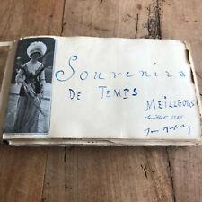ancien album photo N7 souvenirs de temps meilleurs juillet 1918