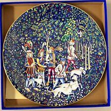 Unicorn Plate La Chasse A La Licorne By Robert Haviland 1972 #2 Rare