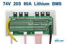 72V 84V 20S 80A 20x 3.6V / 3.7V / 4.2V Lithium ion Li-ion Li-Po Battery PCB BMS