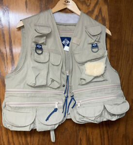 Columbia Sportswear Fly Fishing Vest Khaki Men's Medium