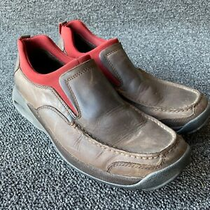 Men's Cole Haan Country Brown Leather NikeAir  Moc Toe Loafer Shoes Size 8 Red