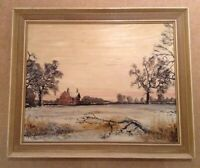 NEIL SPILMAN ORIGINAL OIL ON BOARD PAINTING LANDSCAPE SIGNED AND DATED 77 FRAMED