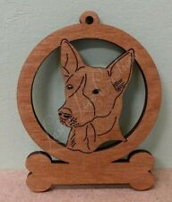 Canaan - Laser Cut Wood Dog Ornament - Can be Personalized