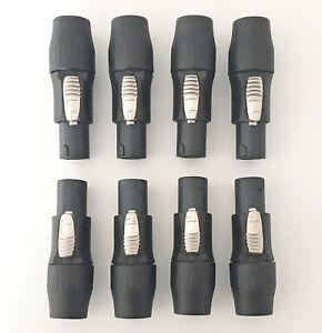 8 Stück Speakon kompatible Stecker 4pol für Lautsprecher Boxen Kabel Set 8 Stück