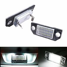 2 White 24 LED Licence Number Plate Lights Lamp For Ford Focus MK2 C-MAX 03 / 08