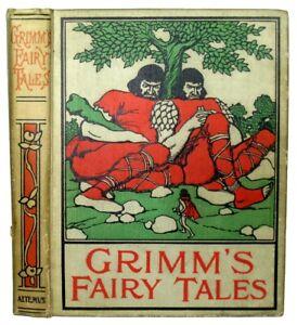 1898 GRIMM'S FAIRY TALES Altemus ILLUSTRATED Cinderella Hansel & Gretel Rapunzel