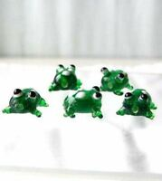 5 Ribbit Hand Made Glass Lampwork Frog Beads 008478