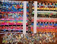 Disney World Pin Trading Lot Lanyard Starter Set Princess Mickey Cars w/ 25 Pins