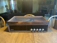 Vintage Symphonic Garrard 3000 Walnut Tabletop Record Player 4PN449
