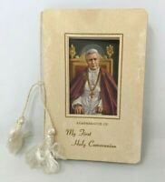 VTG 1950s Remembrance of My First Holy Communion Keepsake Prayer Booklet TT20