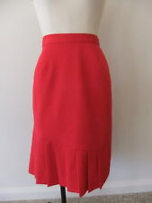 CAPTURE EUROPEAN LADIES SIZE 38 12 14 STYLISH RED PLEATED A LINE SKIRT POLY