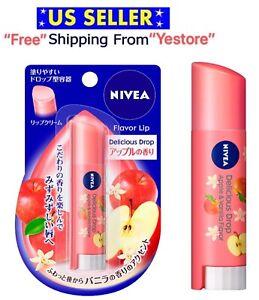 Nivea Flavor Lip Cream Delicious Drop Apple Vanilla Moisturize Lip Balm Lipstick