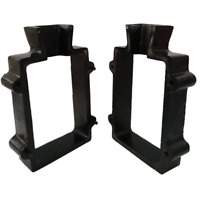 Cast Iron 2 Part Flask Mold for Delft Sand Casting Jewelry Making Tool