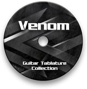Venom Rock Metal Guitar Tab Tablature Lesson Software CD - Guitar Pro