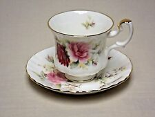 Royal Albert Bone China Chrysanthemum Tea Cup and Saucer Danbury Mint Collection